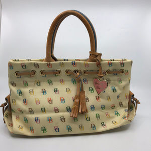 Dooney & Bourke Cream Leather Medium Tote Bag
